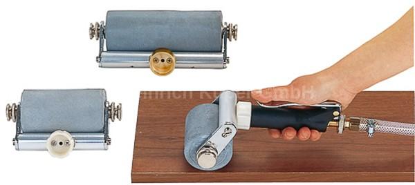Flächenroller 120mm Beleimung Verleimung Leimauftrag inkl. Moosgummiwalze 120mm