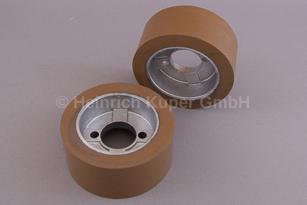 1Vorschubrolle Gummi 110x50 mm Holz-Her Haffner Bohrung 35 mm